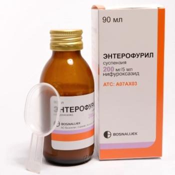 Суспензия Энтерофурил для детей: описание и состав лекарства