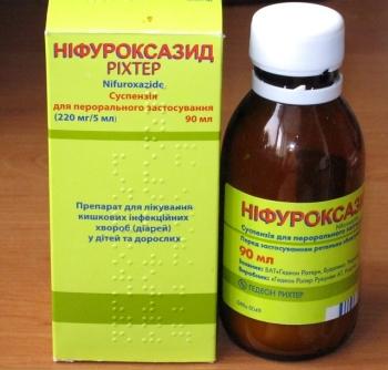 Состав, действующий компонент, описание суспензии Нифуроксазид для детей