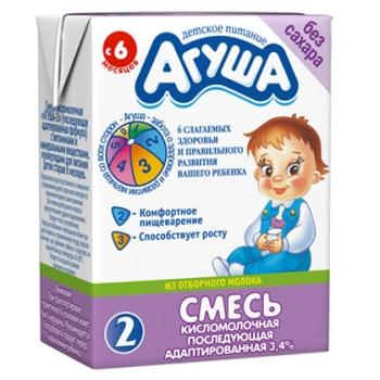 Как понять, подходит ли адаптированная кисломолочная смесь Агуша ребенку?