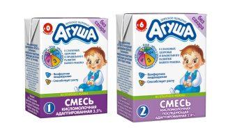 Адаптированная кисломолочная смесь Агуша: состав, описание и отзывы о продукте
