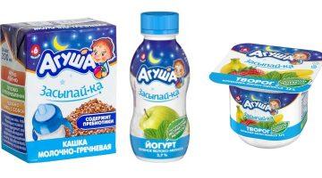 Коллекция детского питания Агуша Засыпай-ка: общие сведения