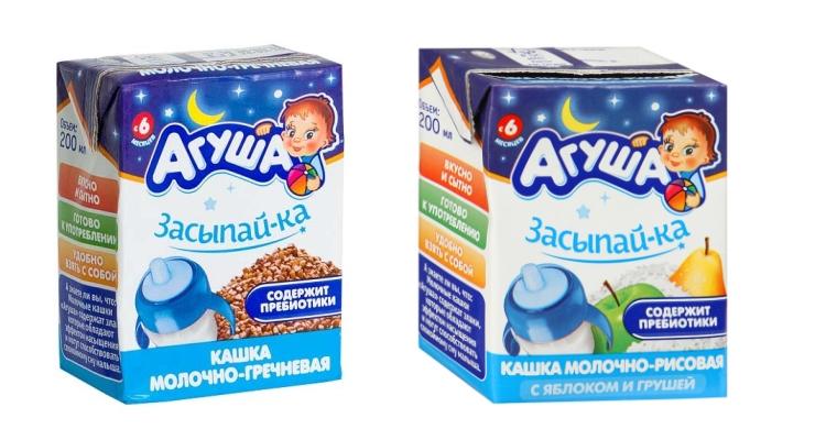 Виды и вкусы, состав и средние цены на продукцию Агуша засыпайка