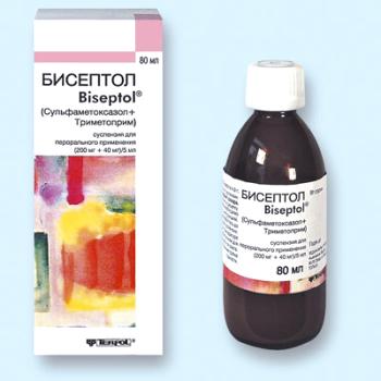 Состав и действующие вещества суспензии Бисептол для детей