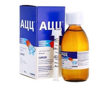Сироп от кашля для детей АЦЦ: инструкция по применению, дозировка в разных возрастах