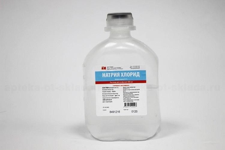 Натрия Хлорид в бутылке