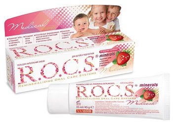 Как правильно использовать зубной гель Рокс для детей