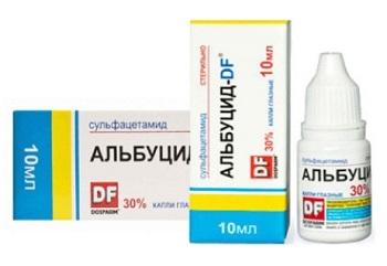 Капли Альбуцид - можно ли применять при насморке для детей