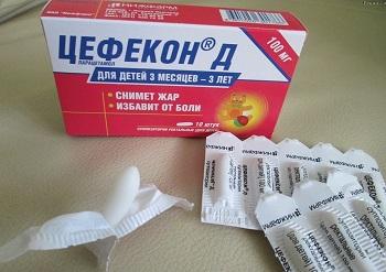 Как правильно применять жаропонижающее средство для детей Цефекон
