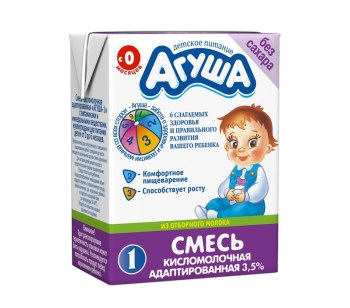 Состав, возрастные рамки и средняя цена адаптированной кисломолочной смеси Агуша