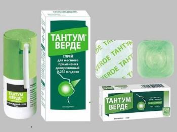 Препарат Тантум Верде - состав и форма выпуска противовоспалительного средства