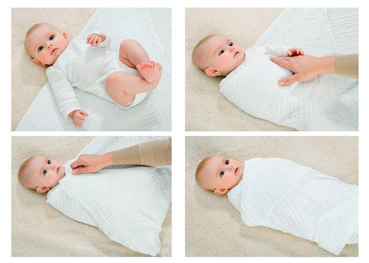 Как пеленать новорожденного с помощью техники свободного пеленания