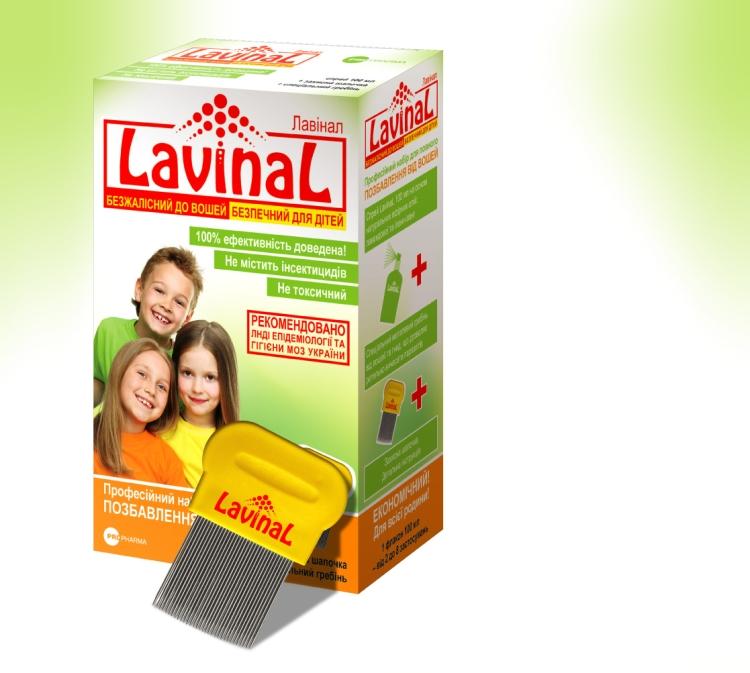 Аэрозоль и шампунь Лавинал от вшей и гнид для детей