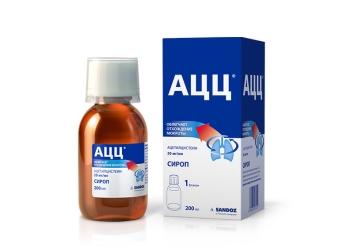 Сироп от кашля для детей АЦЦ: инструкция по применению, взаимодействие с другими лекарствами