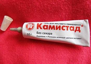 Состав и инструкция по применению геля Камистад для детей