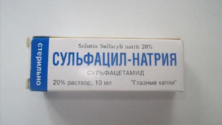 Капли Сульфацил натрия для детей - описание препарата и его стоимость