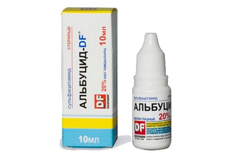 Лечение красных глаз у детей с помощью капель Альбуцид