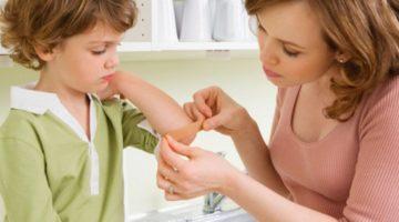 Мази от ушибов, синяков, ссадин и растяжений для детей